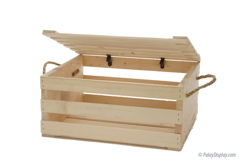 wood crate with lid wood display crate small wood crate