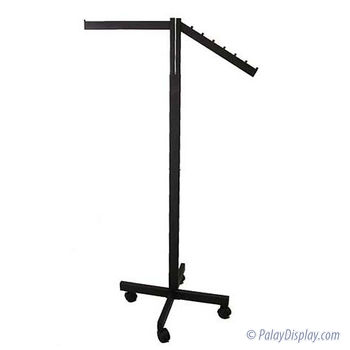 2 Way Rack - Black with Straight Arm and Slant Flag Arm