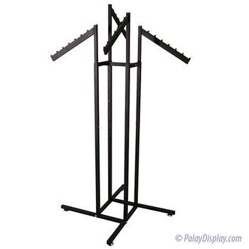 4 Way Rack - Black with All Slant Flag Arms
