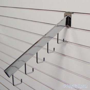 5 J Hook Rectangular Slatwall Waterfall