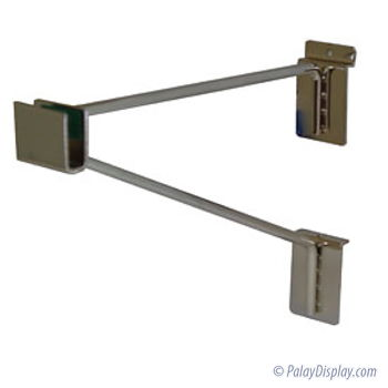 Braced Rectangular Slatwall Hangrail Bracket