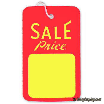 Large Strung Sale Tag Red & Yellow