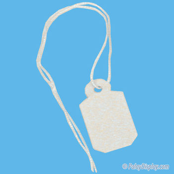Small Jewelry Tag White/White String