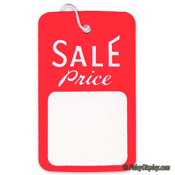 Small Strung Sale Tag Red & White