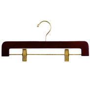 "14"" Walnut Pant/Skirt Hanger - Brass Hook"