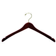 "17"" Walnut Top Hanger - Brass Hook"