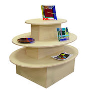 3 Tier Oval Display Table