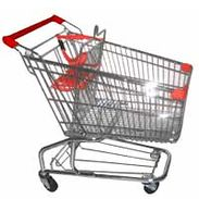 Commercial Shopping Cart - 165 lbs Capacity