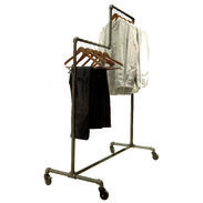 Double Tier Pipe Clothing Rack