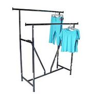Garment Rack - Double Rail Rack with V Brace - Upper Midwest Delivery Area