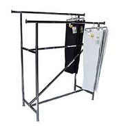 Garment Rack - Double Rail Rack with Z Brace - Upper Midwest Delivery Area