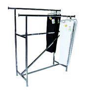 Garment Rack - Double Rail Rack with Z Brace