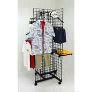 Grid Four Way Merchandiser - 4ft High