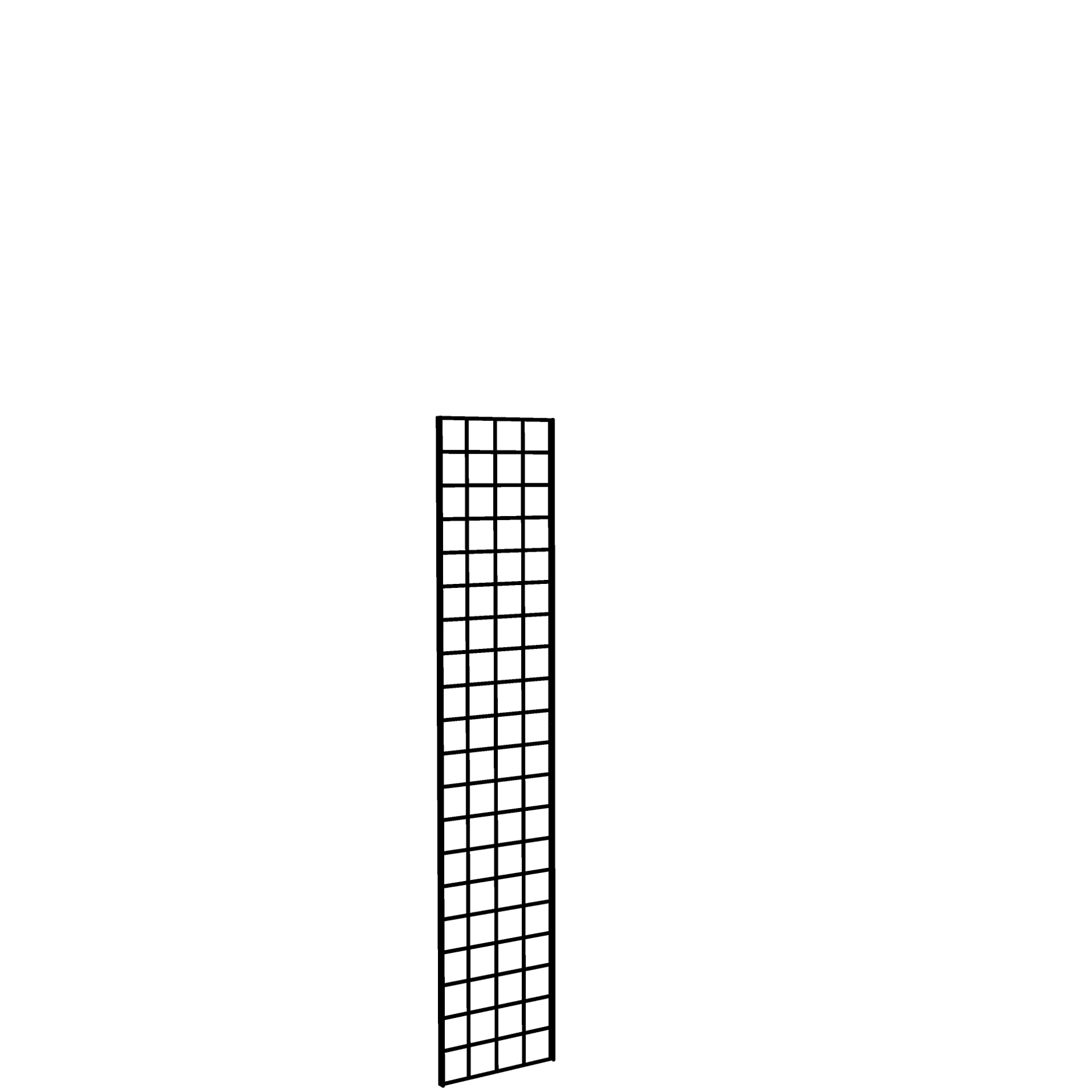 Gridwall Panel 1' x 5' Black