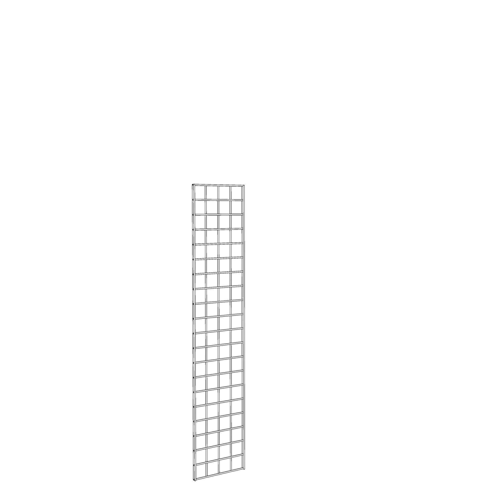 Gridwall Panel 1' x 5' White