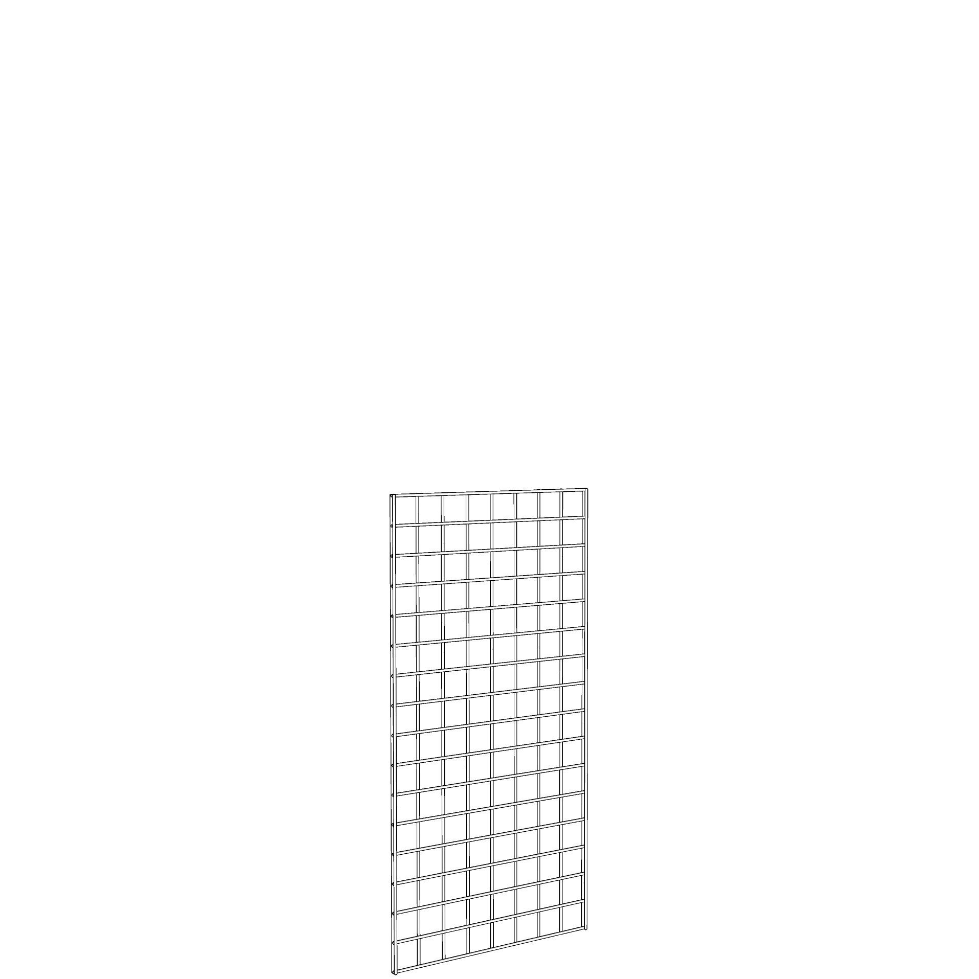 Gridwall Panel 2' x 4' White