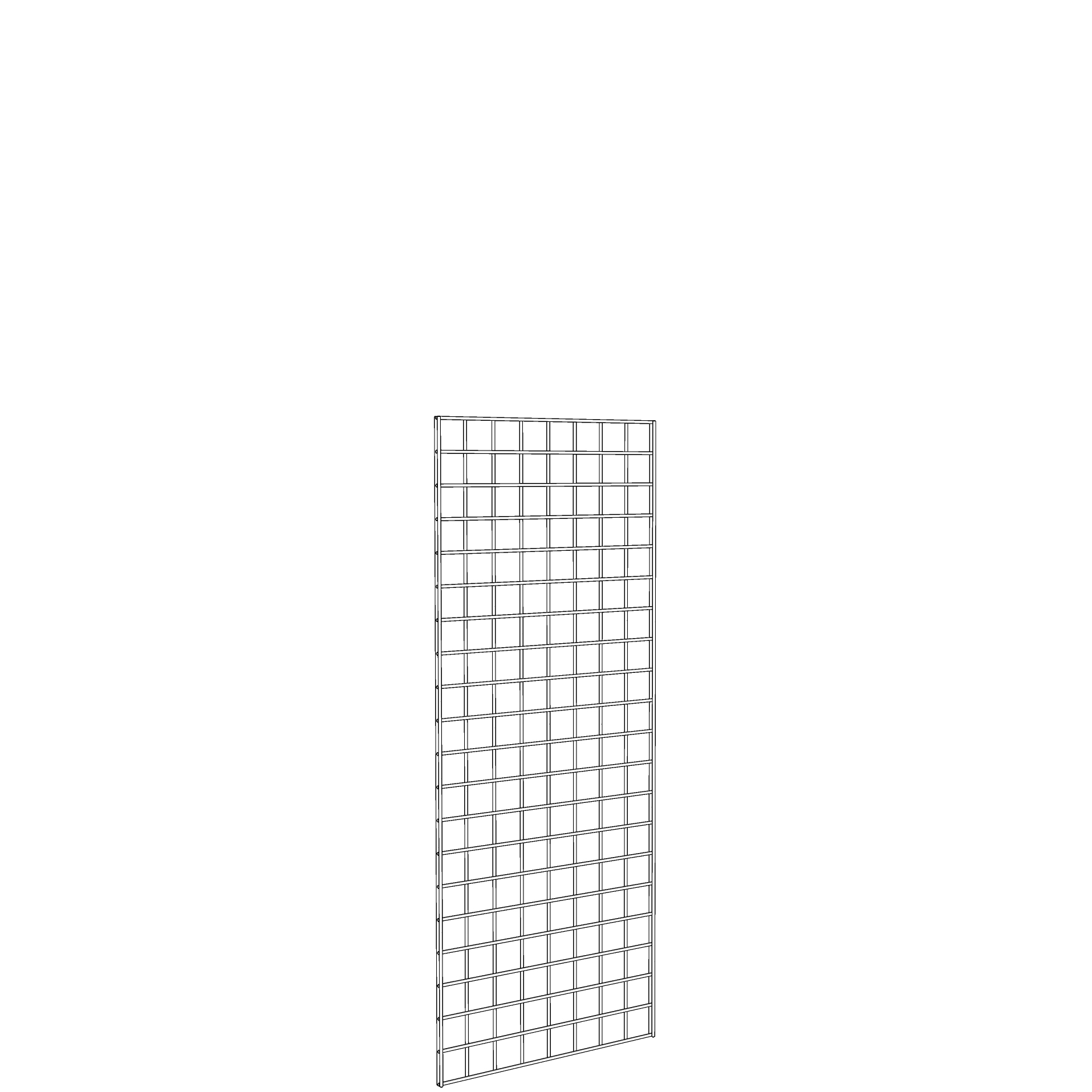 Gridwall Panel 2' x 5' White
