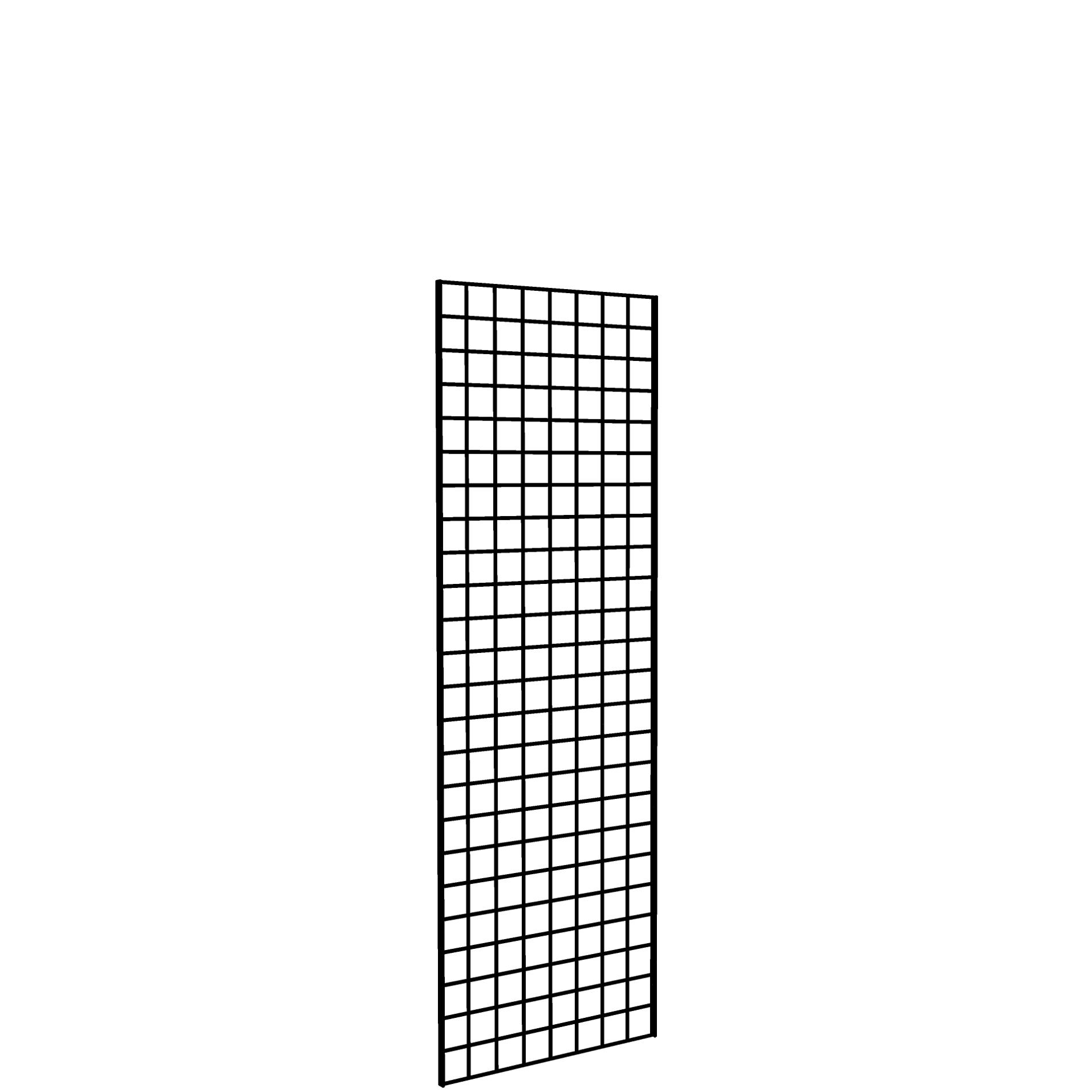 Gridwall Panel 2' x 6' Black