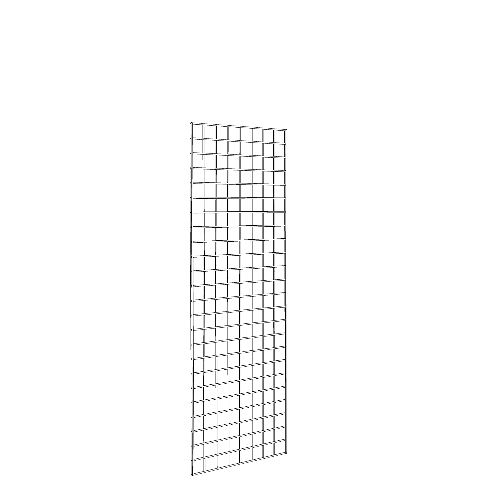 Gridwall Panel 2' x 6' White
