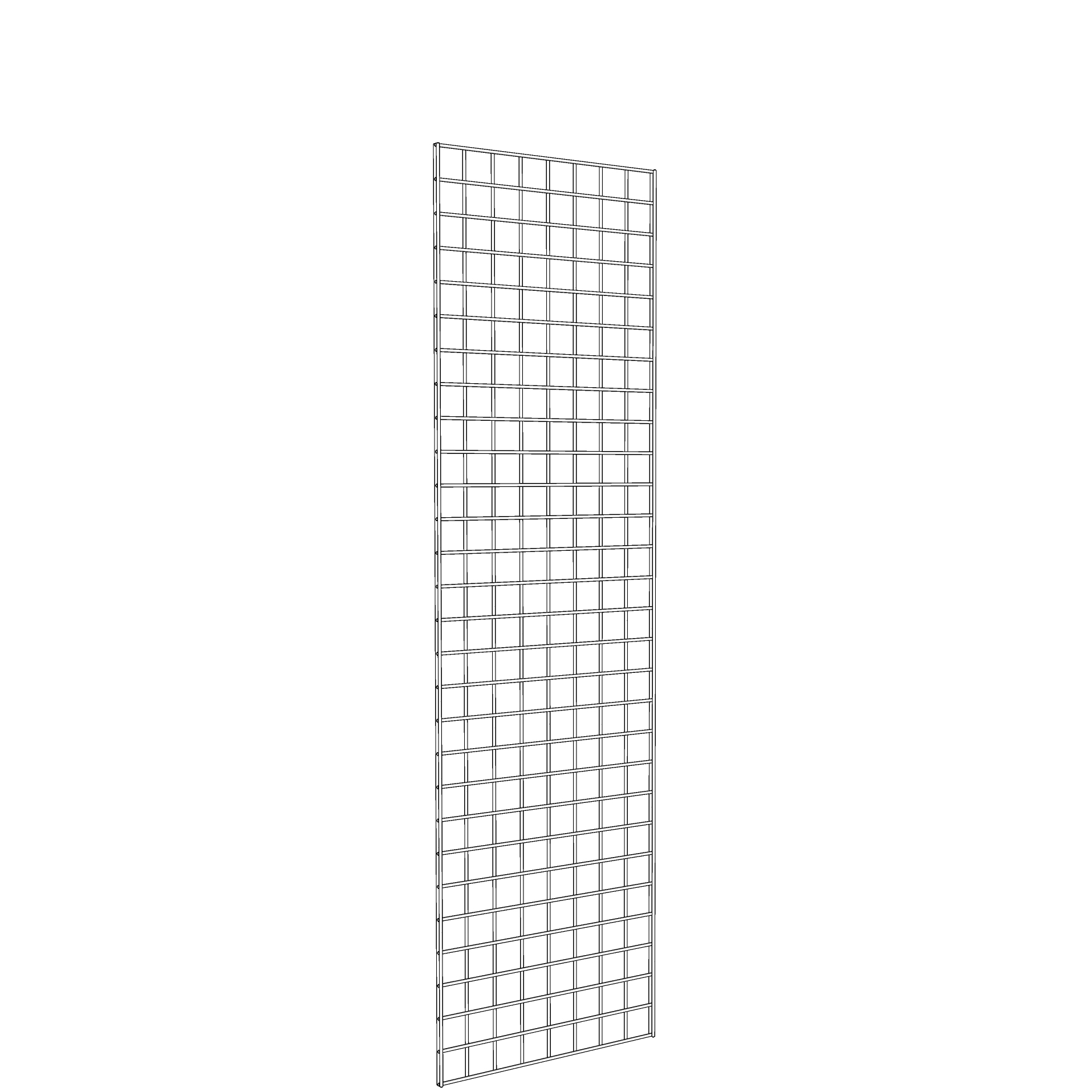 Gridwall Panel 2' x 7' White