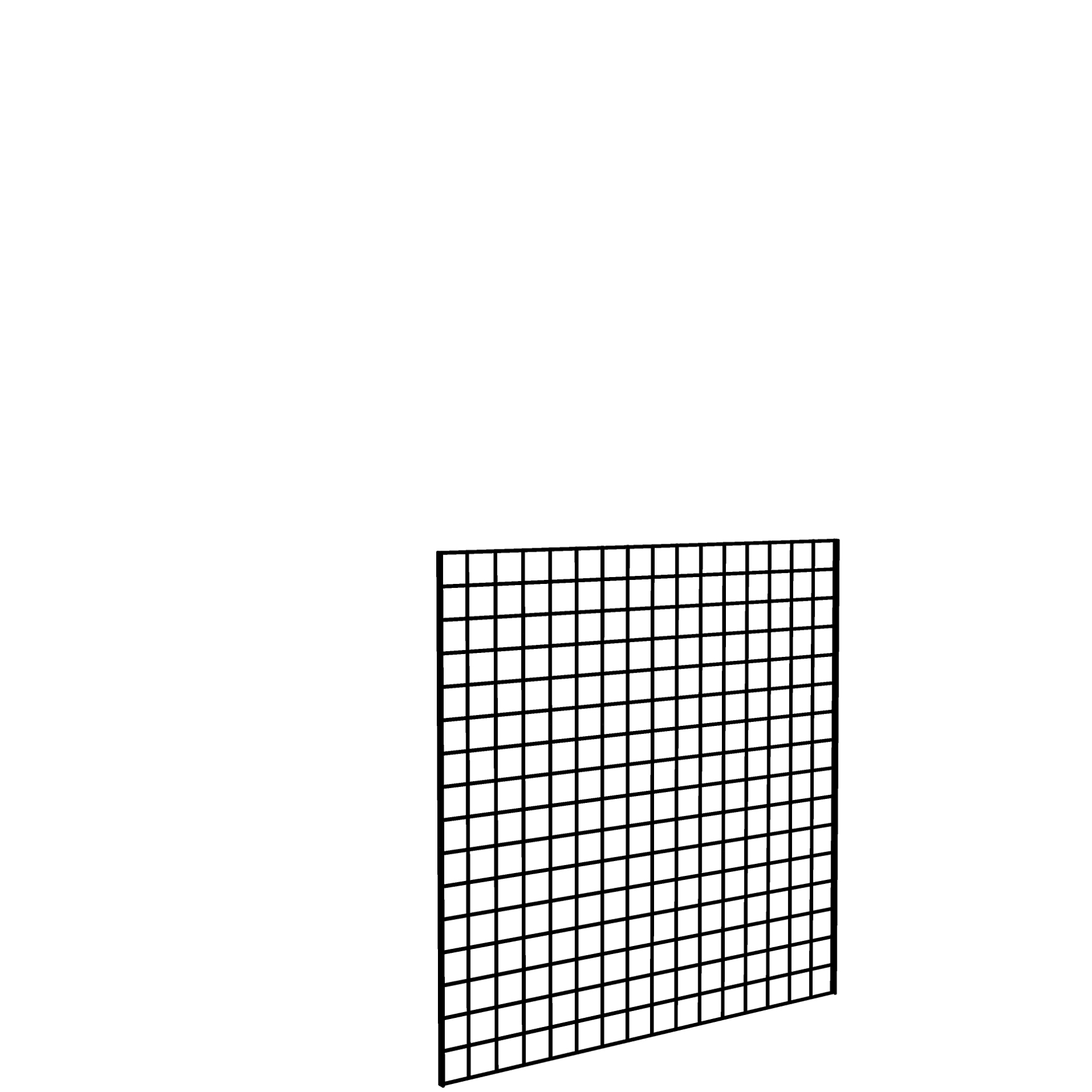 Gridwall Panel 4' x 4' Black