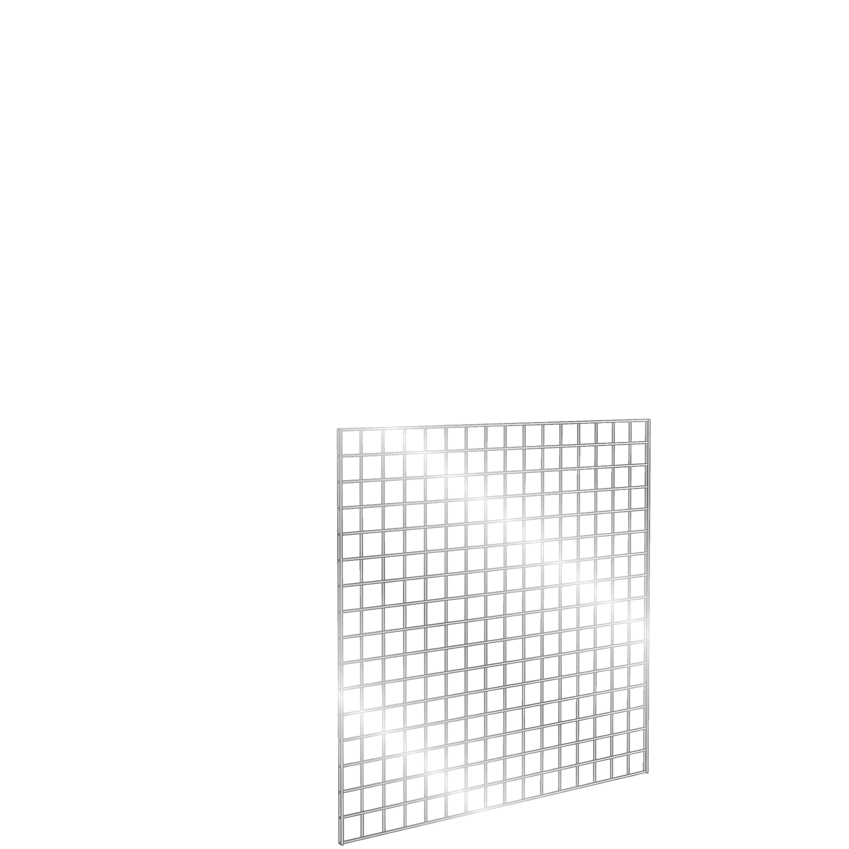 Gridwall Panel 4' x 4' Chrome
