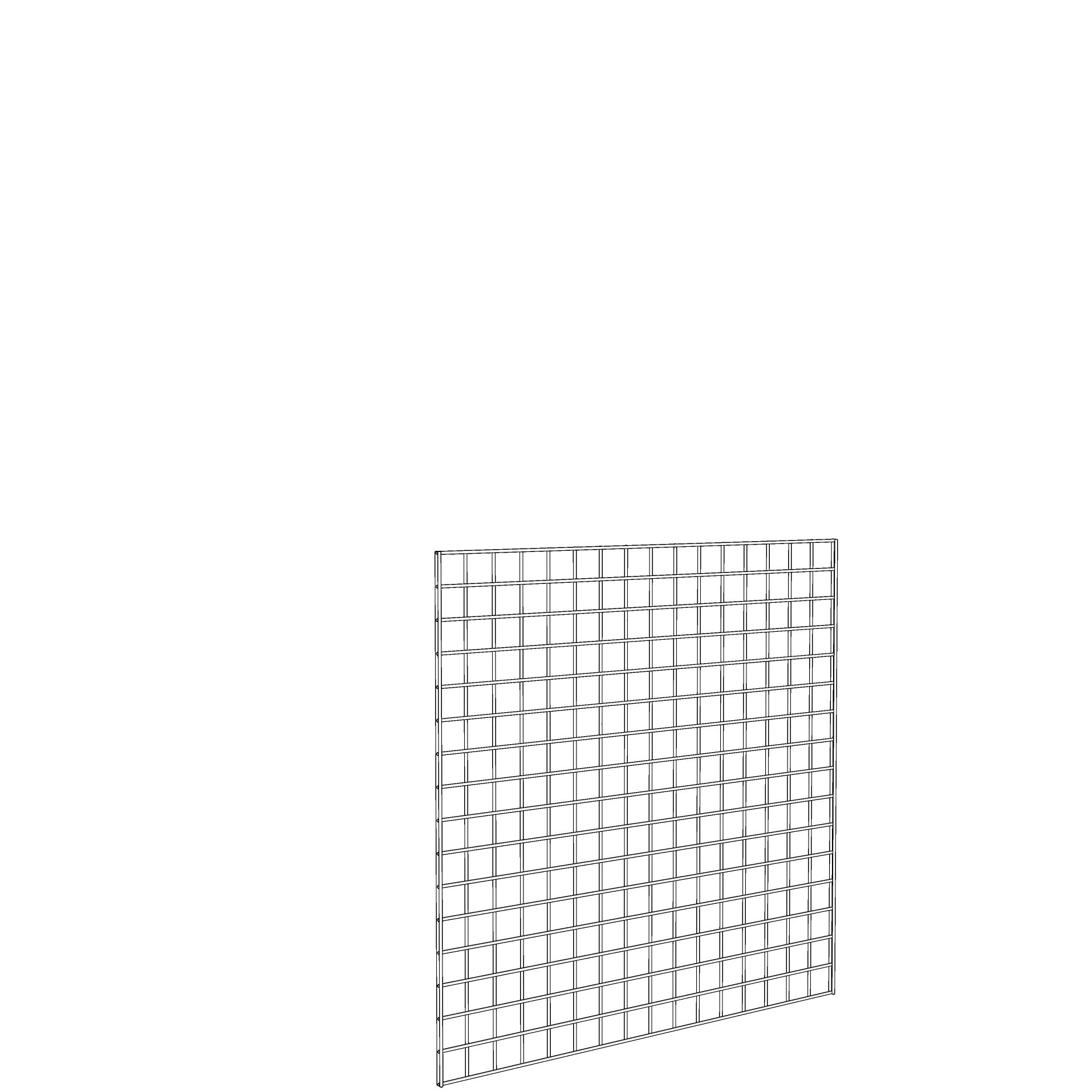 Gridwall Panel 4' x 4' White