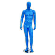 Metro Series Male Mannequin - Hands By Sides - Gloss Light Blue