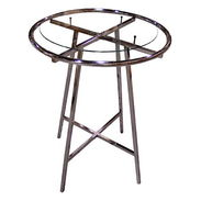 "Rack Accessories - 30"" Diameter Glass Top 1/4"""