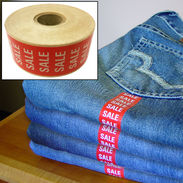 Red Sale Wrap Around Garment Labels