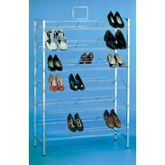 Shoe Display - Chrome Double Shoe Display