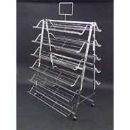 Shoe Display - Folding 2 Sided Shoe Rack