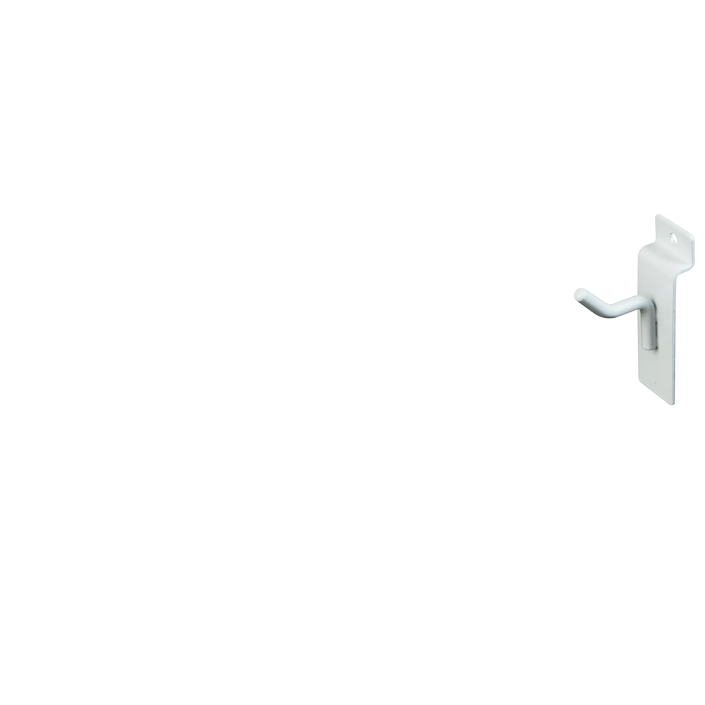 "Slatwall Hook - 1"" White"