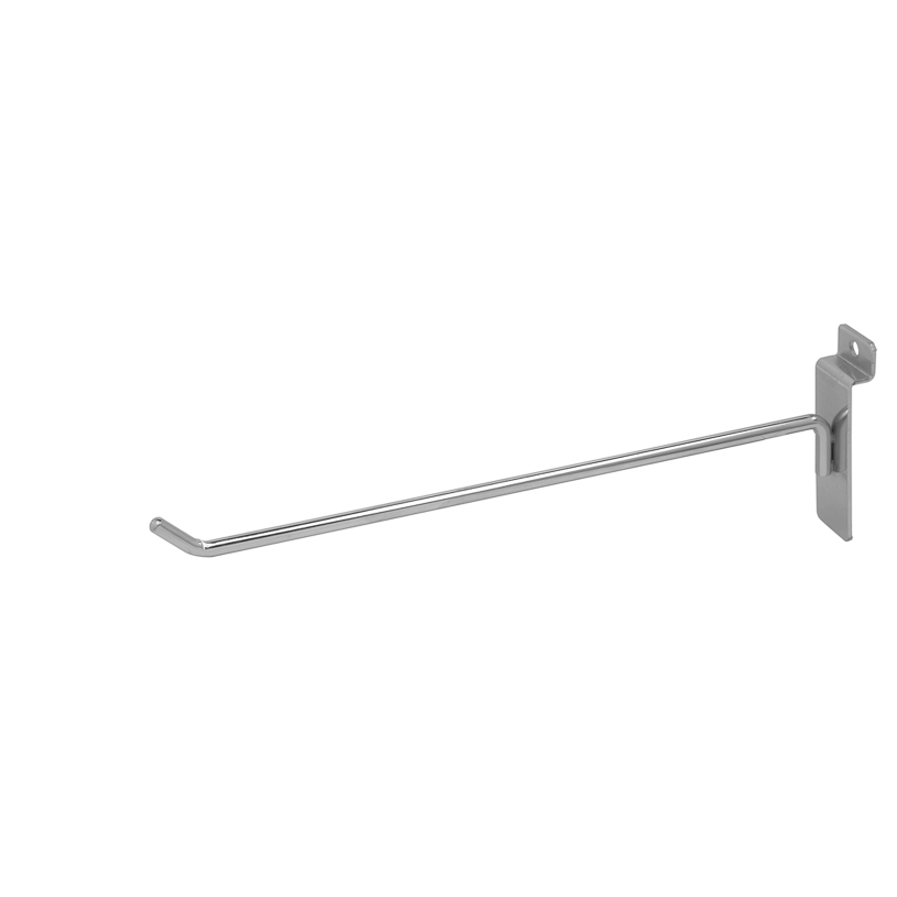 "Slatwall Hook - 10"" Chrome"