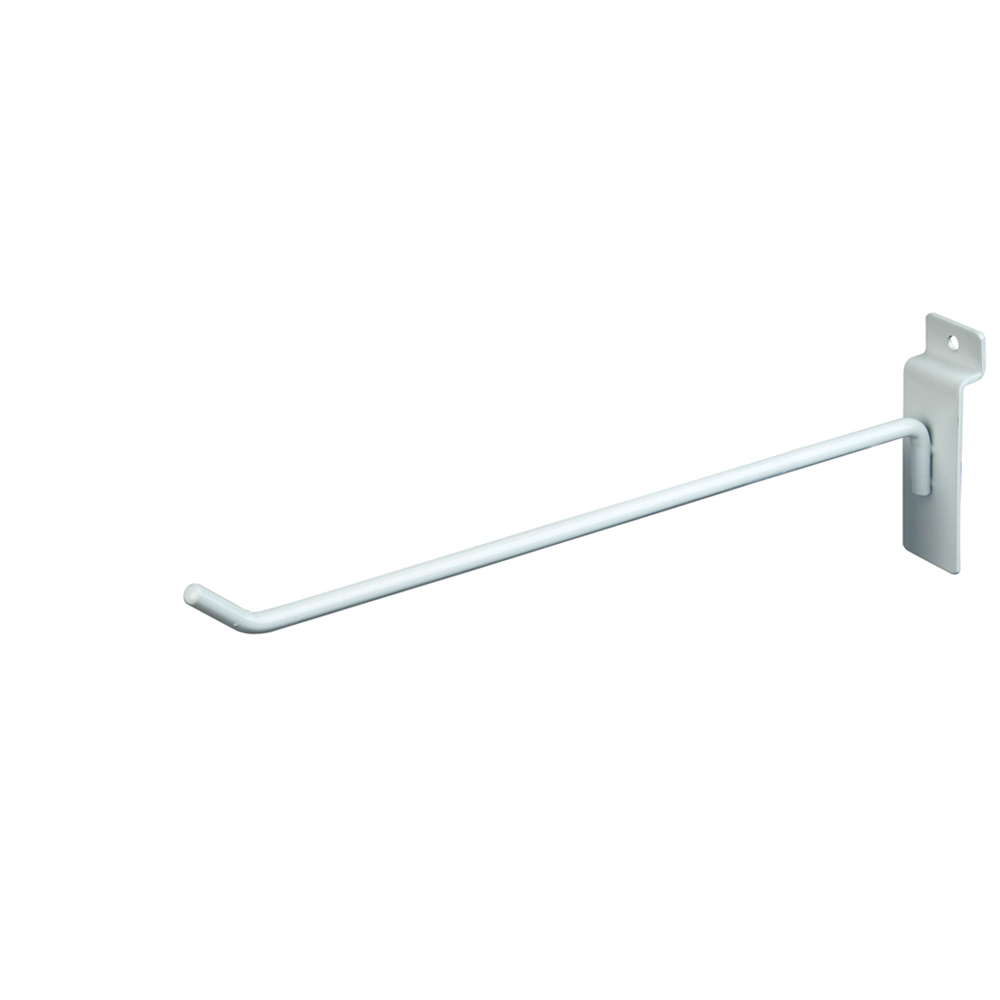 "Slatwall Hook - 10"" White"