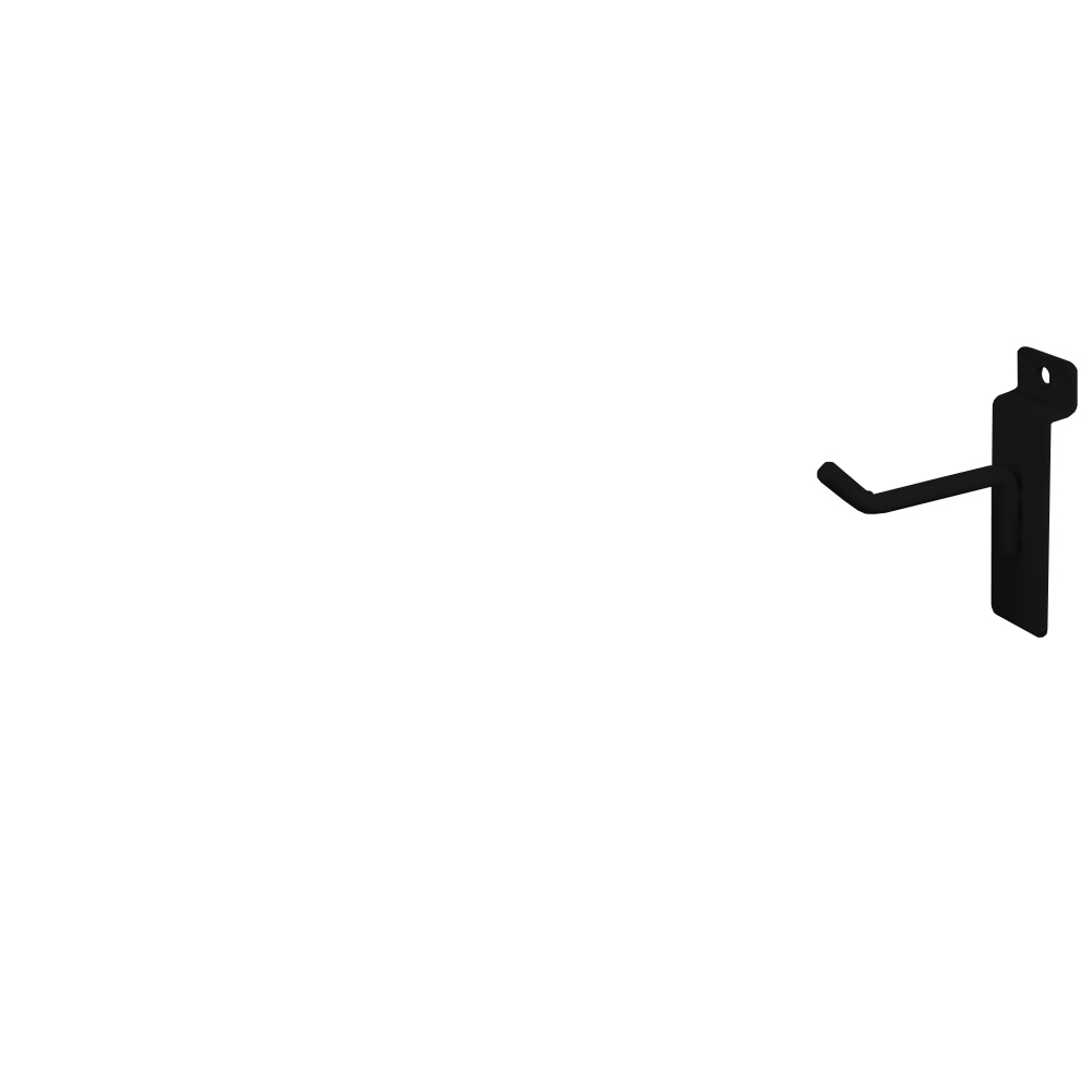 "Slatwall Hook - 2"" Black"