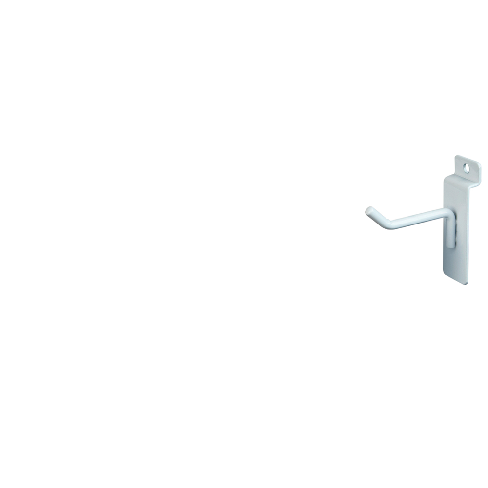 "Slatwall Hook - 2"" White"