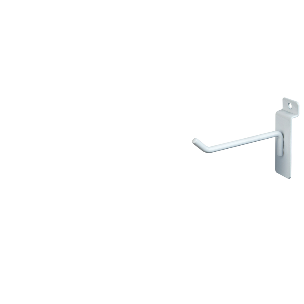 "Slatwall Hook - 4"" White"