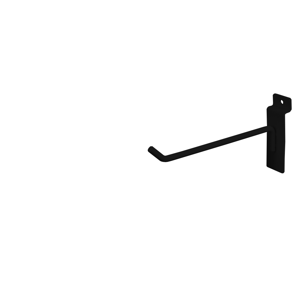"Slatwall Hook - 6"" Black"