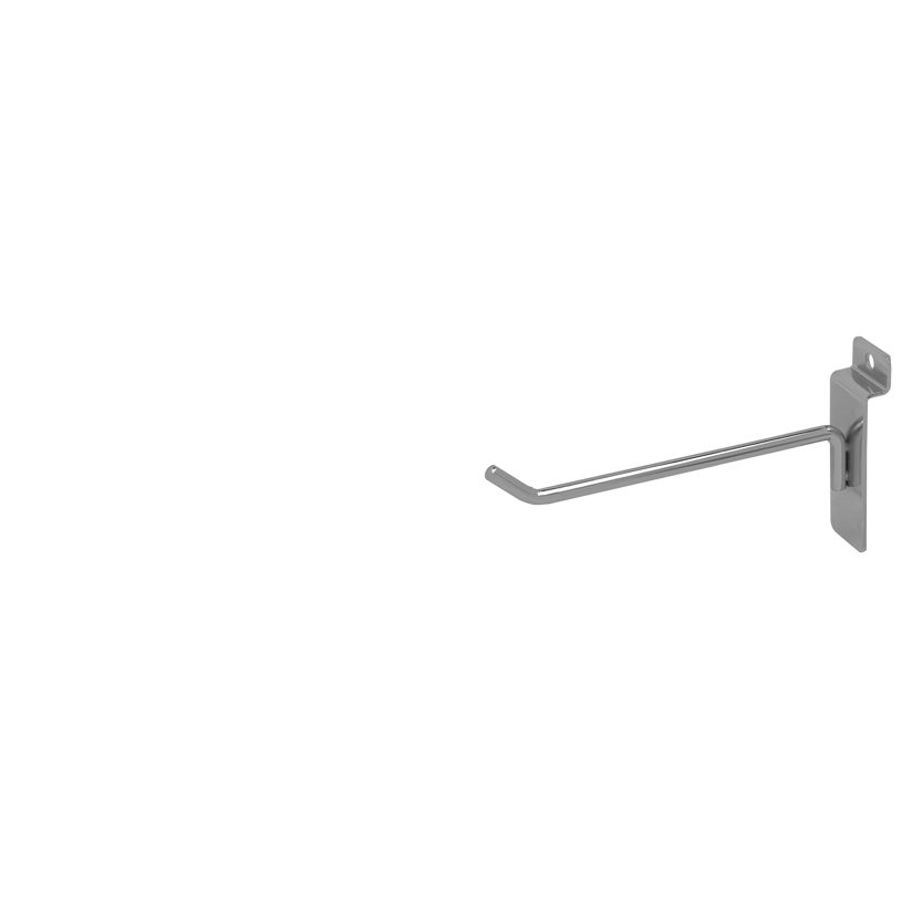 "Slatwall Hook - 6"" Chrome"