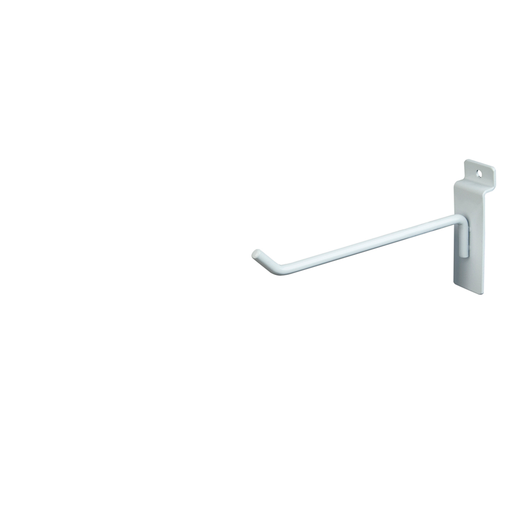 "Slatwall Hook - 6"" White"
