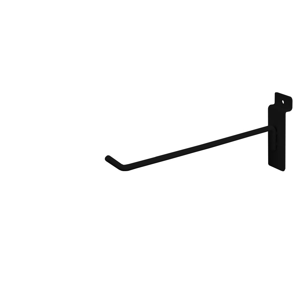 "Slatwall Hook - 8"" Black"