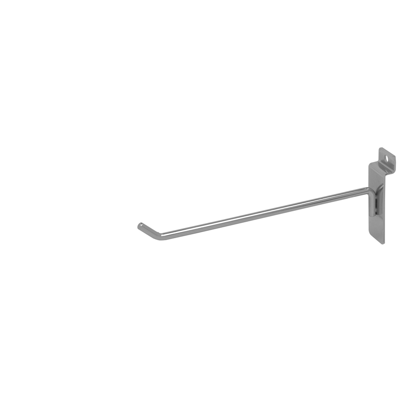 "Slatwall Hook - 8"" Chrome"
