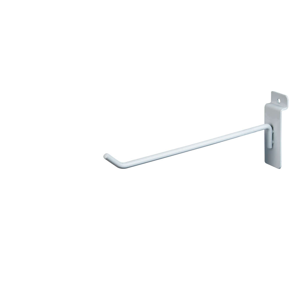 "Slatwall Hook - 8"" White"