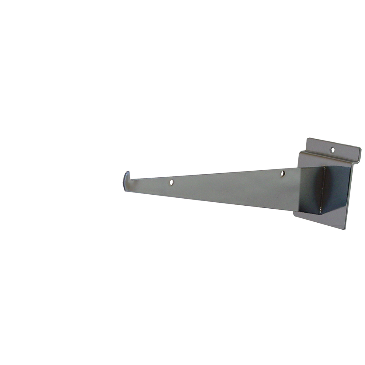 "Slatwall Shelf Bracket 10"" Chrome"