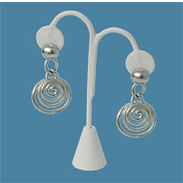 White Leatherette Earring Jewelry Display