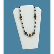 White Leatherette Necklace Jewelry Display