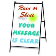 Write-On Wash-Off A-Frame Sign - White